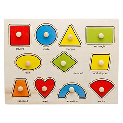 OneCreation Wooden Puzzle Cognitive Board Hand Grasping Board (Shape Matching)1-6 Years Old Puzzle Toy