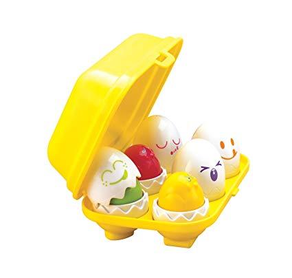 Encourages Shape & Color Recognition Squeak Eggs
